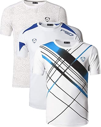 Jeansian Mens 3 Packs Sport Slim Quick Dry Short Sleeves Compression T-Shirt Tee LSL133_185_3209 White XL