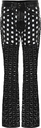 Maison Margiela Perforated mid-rise bootcut jeans