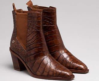 Capodarte Ankle Boot Couro Croco Nocciola 36
