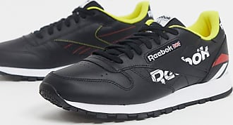Reebok Classics leather trainers in black white & primal-Multi