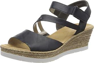 Rieker Womens Frühjahr/Sommer 619A4 Closed Toe Sandals, Blue (Pazifik 14), 3.5 UK