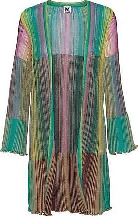 M Missoni M Missoni Woman Metallic Crochet-knit Cardigan Jade Size 42