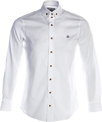 Vivienne Westwood Oxford 2 Button Krall Shirt in White