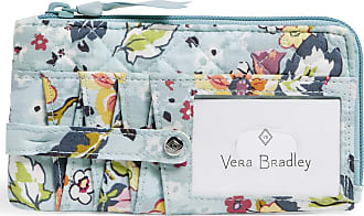 Vera Bradley Womens Signature Cotton RFID Ultimate Card Case Wallet, Floating Garden, One size
