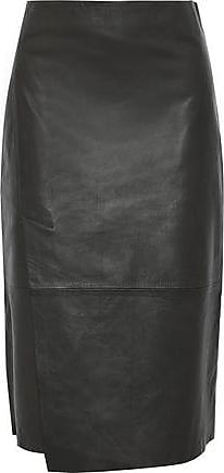 Vince Vince. Woman Leather Skirt Army Green Size 10