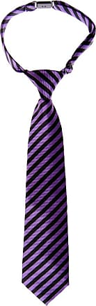 Retreez Striped Woven Pre-tied Boys Tie - Purple and Black Stripe - 24 months - 4 years