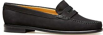 Van Dal Womens Hampden X Wide Fit Black Nubuck Penny Loafer Flats, Size 37 EU