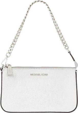Michael Kors Jet Set MD Chain Pouchette Silver
