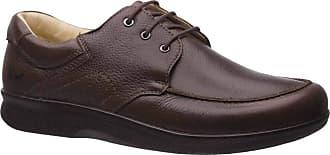 Doctor Shoes Antistaffa Sapato Masculino Esporão 3050 em Couro Floater Café Doctor Shoes-Café-41