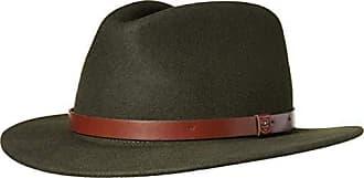 Brixton Mens Messer Medium Brim Felt Fedora Hat, Hunter, M