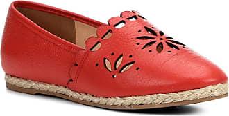 dd9b0eb61c Shoestock Sapatilha Couro Shoestock Espadrille Flat Flor Feminina -  Vermelho - 36