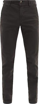 Incotex Cotton-blend Slim-leg Chino Trousers - Mens - Black