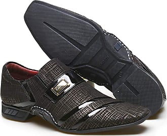 Calvest Sapato Social Masculino Calvest em Couro com Textura Tear - 3660D427 Preto-39