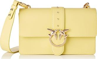 Pinko Love Classic Simply Fl Vitello Womens Cross-Body Bag, Yellow (Giallo Cedrino), 7.5x16.5x27 Centimeters (W x H x L)