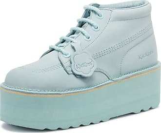 441f31ac2651 Kickers Kick Hi Womens Pastel Blue Nubuck Platform Boots-UK 3 / EU 36