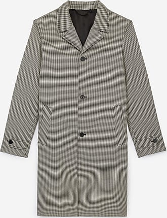 The Kooples Long printed trench coat in cotton w/tartan - MEN