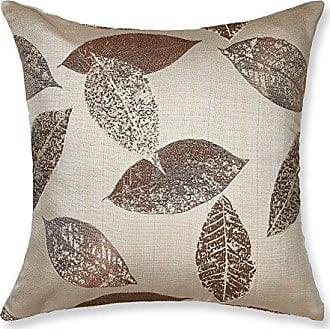 Violet Linen Milano Arts Collection Decorative Cushion Cover, 18 x 18, Brown