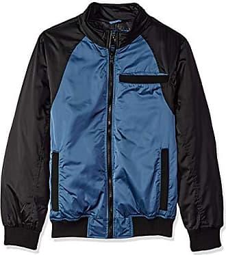 Urban Republic Mens Heavy Poly Satin Jacket, Teal, XL