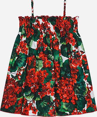 272b540dd8e422 Dolce & Gabbana STRANDKLEID AUS POPELINE MIT PORTOFINO-PRINT