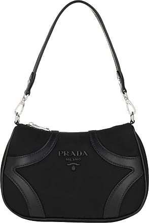 Prada Shoulder Bag Nylon Black Hobo Bag schwarz