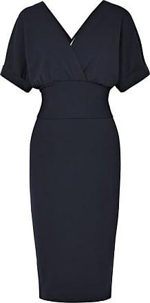 Brunello Cucinelli Kleid Aus Stretch-wolle Mit Wickeleffekt - Navy 240cc59617