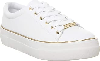 Office Free Flatform Trainer White with Gold Rand - 4 UK