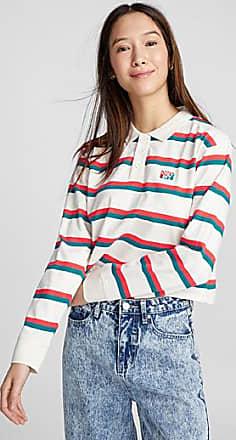 Obey Cropped twin-stripe polo