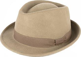 Hat To Socks Elegant Beige Wool Trilby Hat Waterproof & Crushable Handmade in Italy (Beige, 55cm)