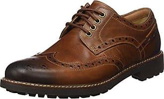 9bf4d7b41e966 Clarks Montacute Wing 203517867070, Chaussures basses homme, Marron (Dark  Tan Lea),