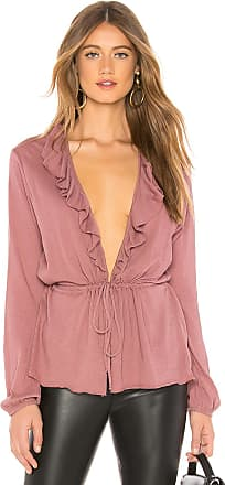 Chaser Gauzy Cotton Blouson Ruffle Cardigan in Mauve