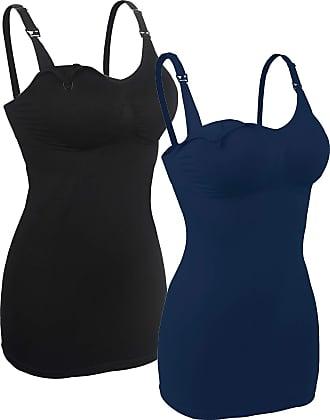 iLoveSIA Womens Nursing Tops Breastfeeding Maternity Bras 2Pack Black+Blue Size XL Fit 38BCD 40ABC
