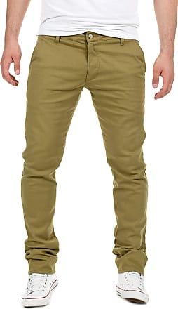 Yazubi Mens Trousers Chinos Pants Dustin Skinny Slim Fit Boy Khaki Forest Lime Olive, Green (Dusky 4R170517), W29/L32