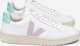 Veja V 12 White Parme Turquoise Leather Trainerschuhe - 41