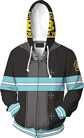 Haililais Fire Force Episode Pullover Casual Jacket Fashion Cosplay Costume Sweatshirt Sports Hooded Tops Multiple Sizes Unisex (Color : A01, Size : XXL)