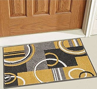 Well Woven 600113 Gold Galaxy Waves Modern Abstract Arcs and Shapes 2 x 3 Mat Accent Area Rug