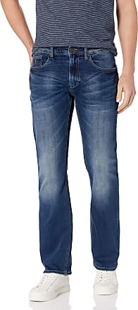 Buffalo David Bitton Mens King Slim Boot Fit Denim Pant Jeans, Indigo, 36W x 30L