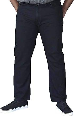 Duke London Mens Kingsize Elasicated Jeans (42-60) Washed Black (60 30)