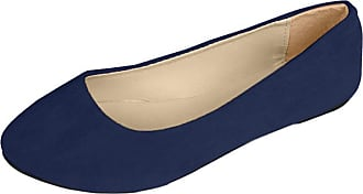 Vdual Women Ladies Slip On Flat Comfort Walking Ballerina Shoes Size UK 2.5-8 Black Blue