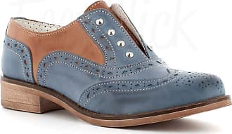 Generico Generic Made in Italy English Leather with Studs - Blue Size: 8 UK