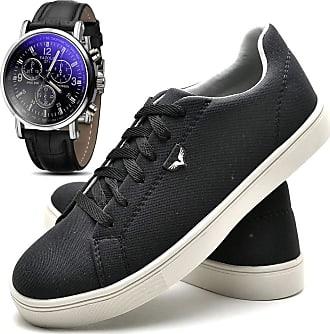 Juilli Kit Sapatênis Sapato Casual Com Relógio Com Cadarço Masculino JUILLI 171DB Tamanho:40;cor:Preto;gênero:Masculino