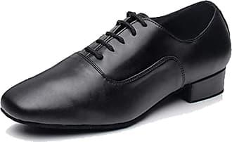 MGM-Joymod Mens Classic Lace-up Salsa Tango Samba Jazz Rumba Ballroom Latin Modern Dance Shoes (Black 2.5cm) 11.5 M UK