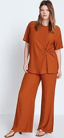 Violeta by Mango Textured flowy trousers