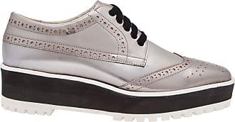Vinci Shoes Oxford Flatform Silver - Prata