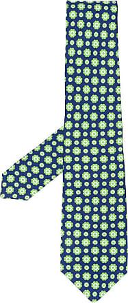 Kiton Gravata com estampa floral - Azul