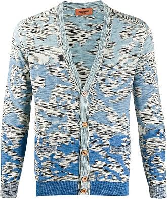 Missoni Cardigan com estampa abstrata de algodão - Azul
