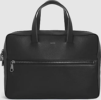 Reiss Issac - Leather Laptop Carrier in Black, Mens