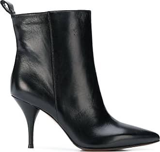 L'autre Chose Ankle boot bico fino de couro - Preto