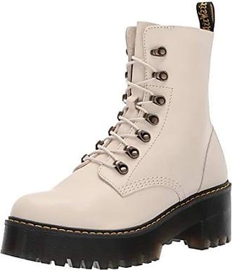 b5d7fbab712d Dr. Martens Womens Leona Fashion Boot, Bone, 9 Medium UK (11 US