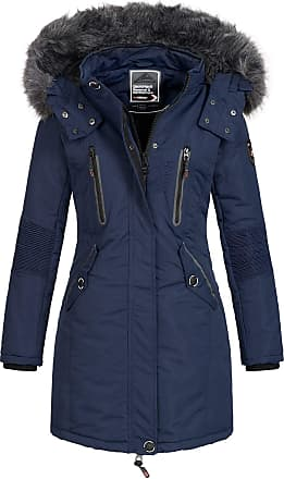 Geographical Norway Womens Jacket Winter Parka Jacket Coracle/Coraly XL-FELLKAPUZE - Navy II, L