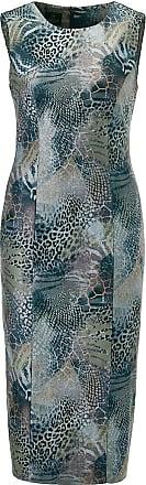 Madeleine Schlankes Kleid mit Animal-Print in weiß MADELEINE Gr 34, anthrazit/multicolor für Damen. Elastomultiester, Polyester. Waschbar